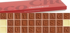 Chocotelegram 'MUTTERTAGS WELLNESS GUTSCHEIN'