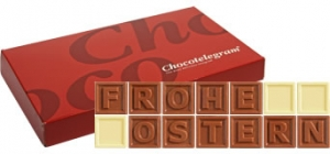 Chocotelegram 'FROHE OSTERN'