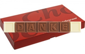 Chocotelegram 'DANKE'